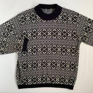 Vintage oversized mock neck knit sweater